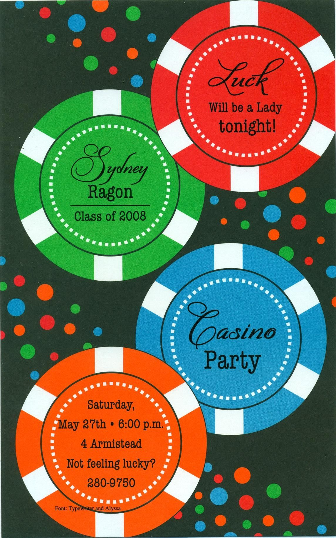 Save the date idea for casino party but have Christmas party ...