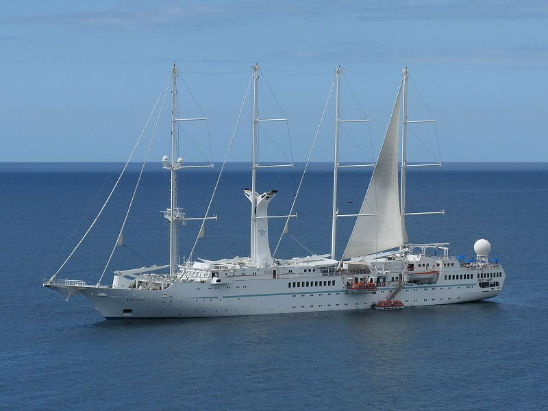 The Msy Wind Spirit Is A Motor Sailing Yacht Sailing As A Cruise - Windsong cruise ship