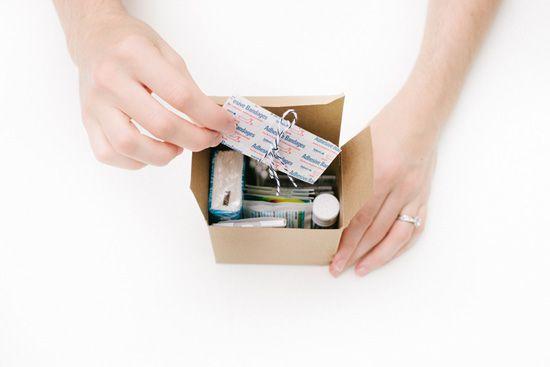 Cute gift idea - wedding day emergency kit