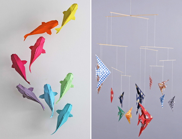 les petits poissons en origami grenadine acidul e le blog lifestyle lyon origami. Black Bedroom Furniture Sets. Home Design Ideas