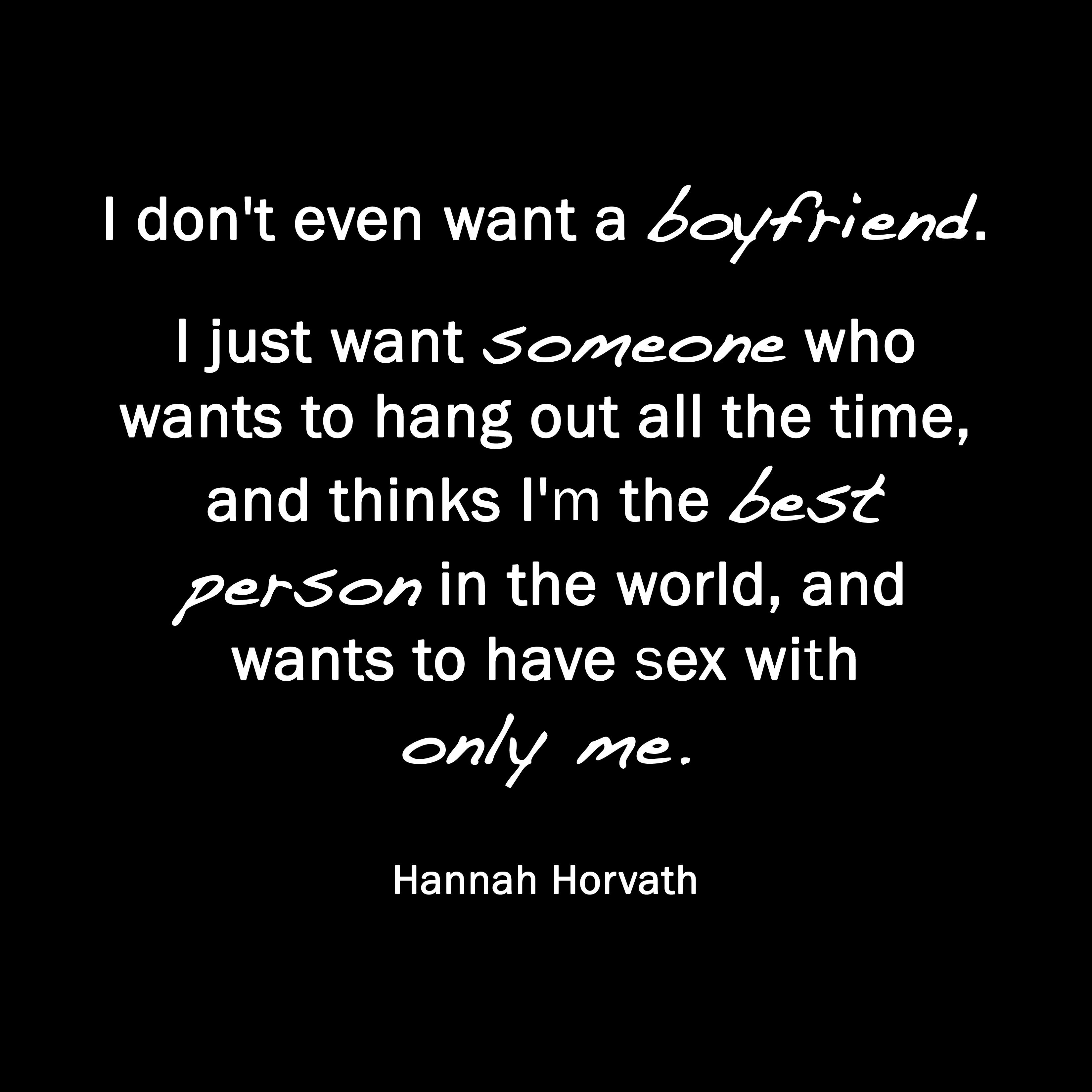 girl just wants sex