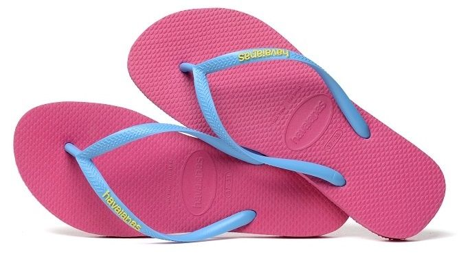 7a3bbe45b954 Havaianas Slim Logo – Orchid Rose Turquoise £22.00 - available at  www.fabflipflops.co.uk  flipflops  beach  summer  havaianas