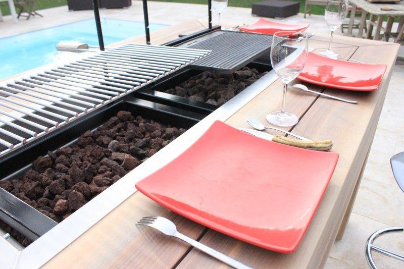 Table barbecue d 39 ext rieur kub basileek cuisine exterieur abris de jardin pinterest - Table jardin barbecue creteil ...