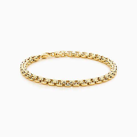 d4fa1bbdb8799 Pulseira masculina de elos quadrados em ouro 18k.   jóias em ouro ...