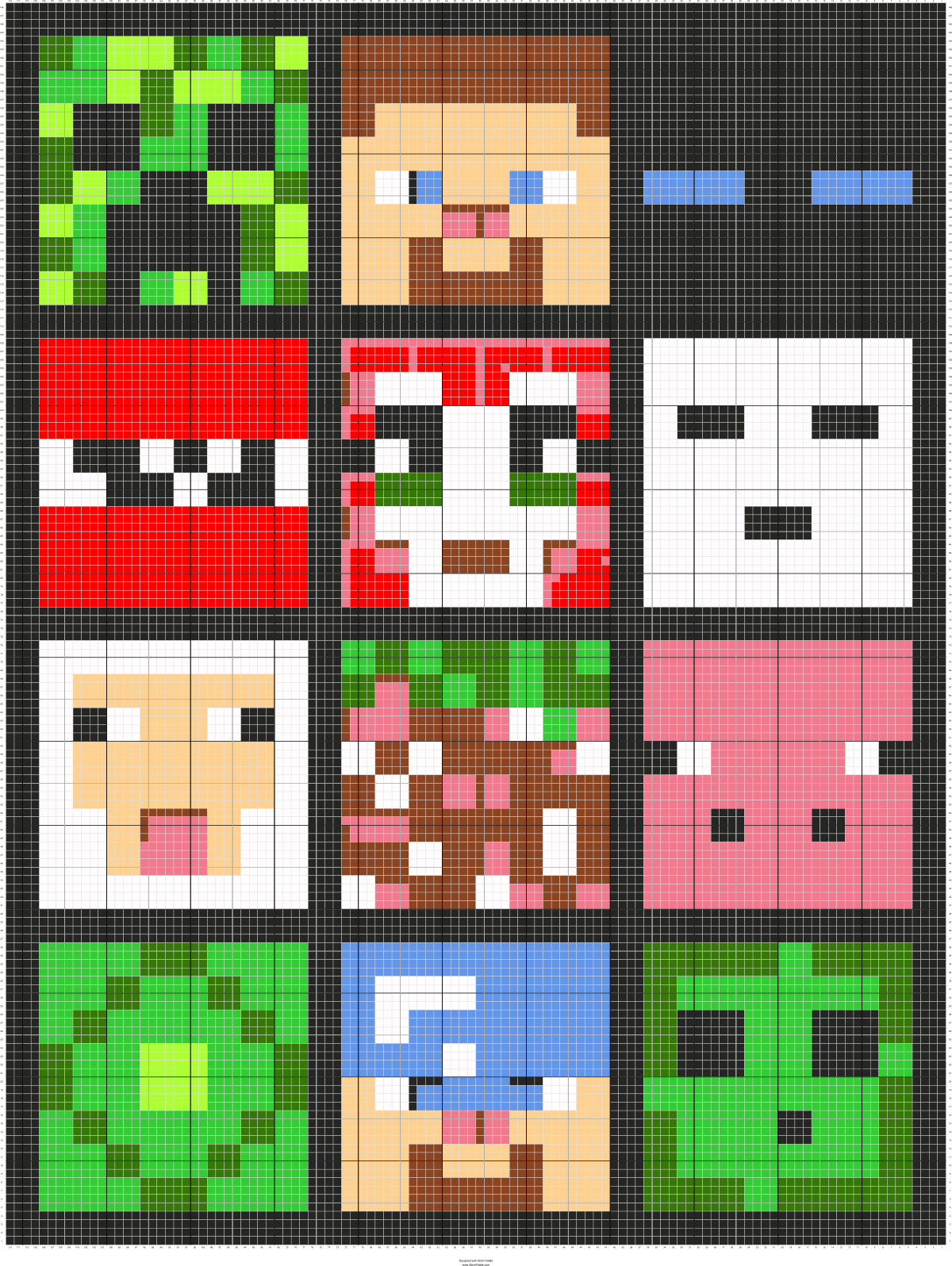 Minecraft Crafts Cross stitch pattern maker Stitch