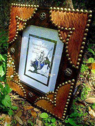 Western Picture Frames Western Cowhide Rustic Free Standing Wood