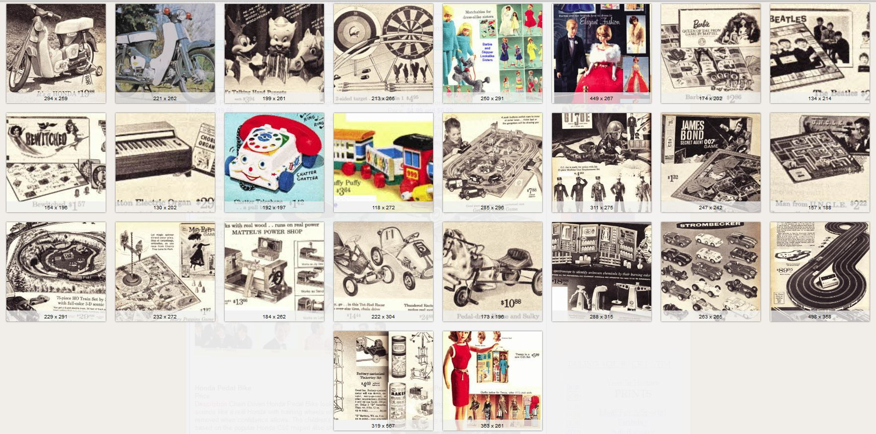 1965 Toys For Boys : Toys from thepeoplehistory  past