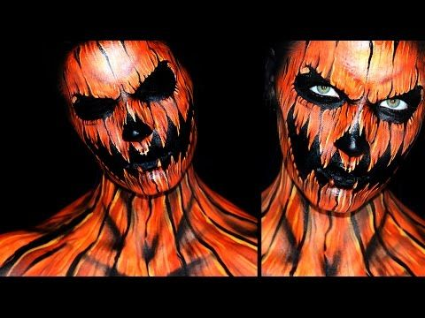 Pumpkin Makeup Tutorial | 31 Days of Halloween - YouTube ...