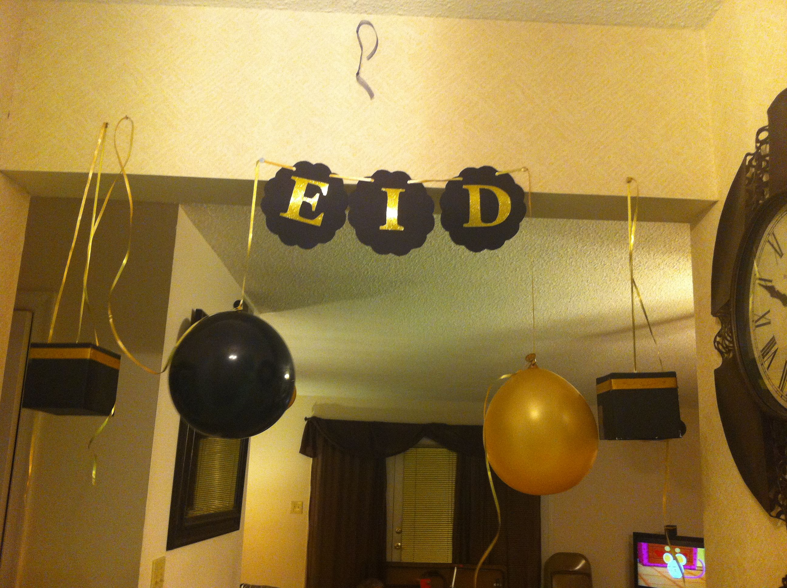 Eid Al Adha Decorations Yakout House Eid Pinterest Eid Decoration And Ramadan