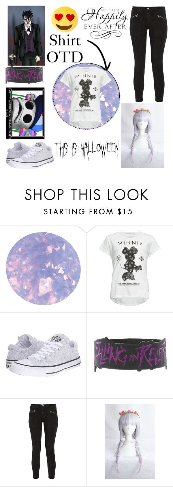 """""""Untitled #3084"""" by frerardforever ❤ liked on Polyvore featuring SpaRitual, Neff, Converse, Disney and J Brand"""