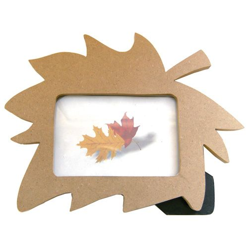 Wood mdf craft blank leaf shape photo frame or picture for Picture frame decorating ideas for kids