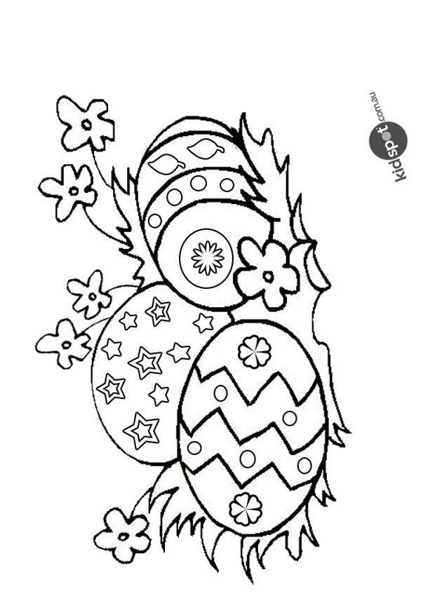 Free Online Easter Egg Colouring Page  Coloring Print and