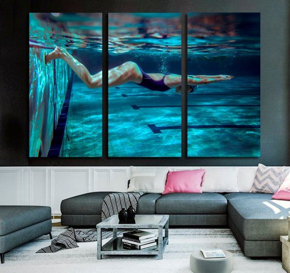Wall Art Canvas Prints.Swimmer Wall Art Swimmer Canvas Print Swimmer Large Wall