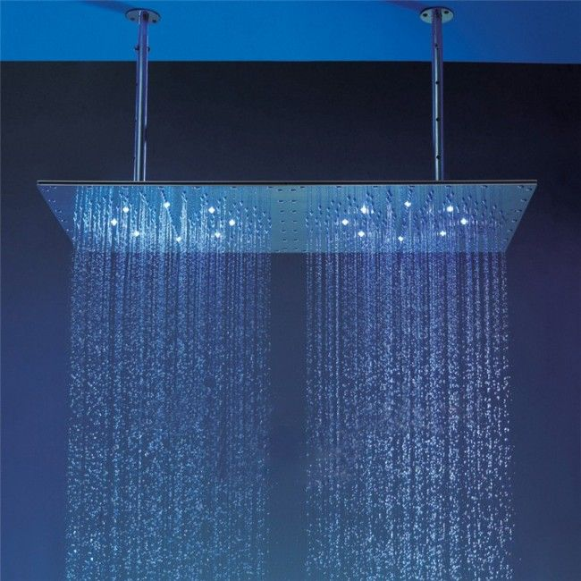 Juno 16 32 Luxury Dual Led Dual Rain Shower Head Ceiling Mount Shower Brushed Rain Shower Rain Shower Head Ceiling Rain Shower Head Ceiling Shower Head