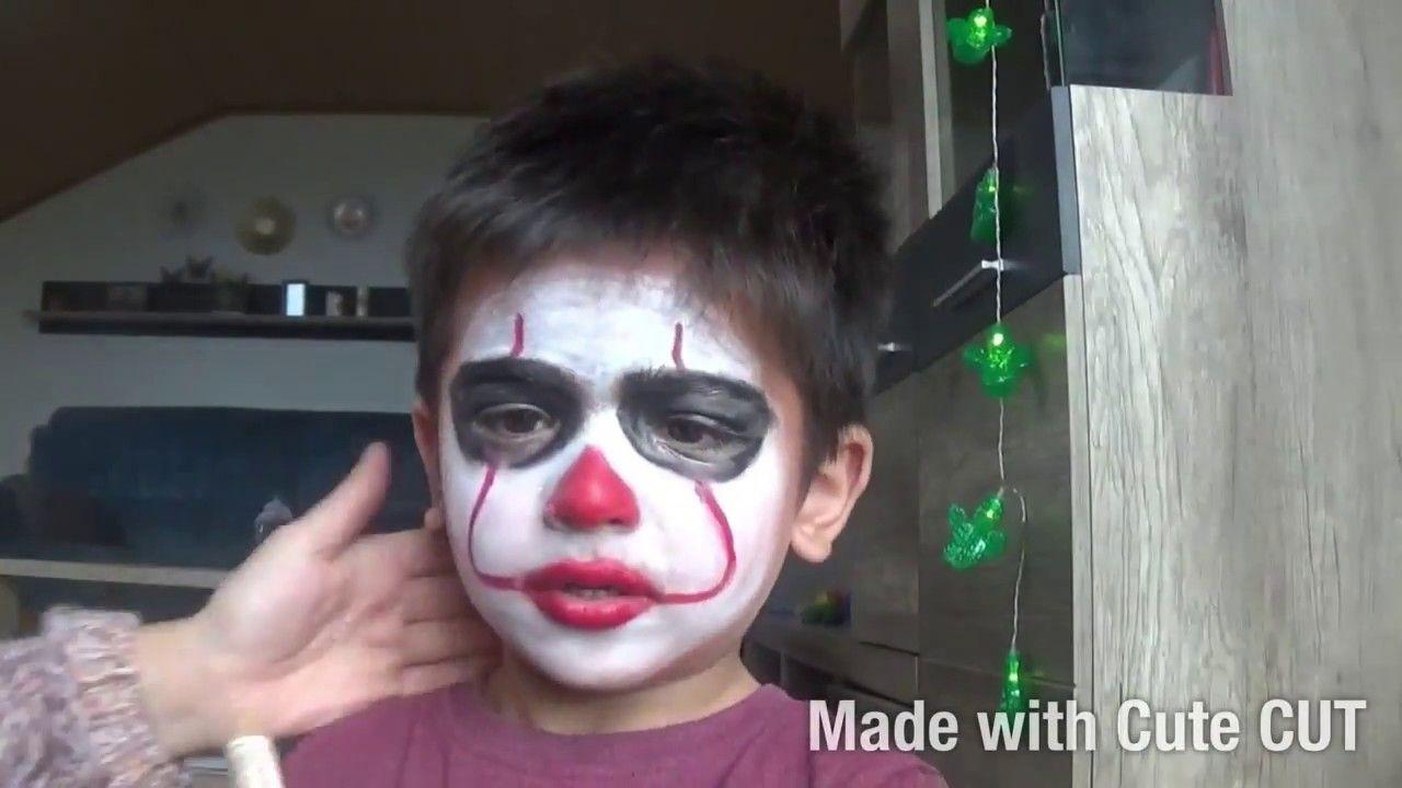 Pennywise Halloween Makeup For Kids Halloween Makeup For Kids Kids Makeup Halloween Makeup