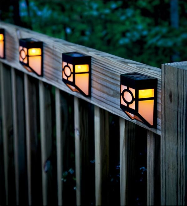 Solar Line Lights Part - 48: Main Image For Mission-Style Solar Deck Accent Lights, Set Of 4