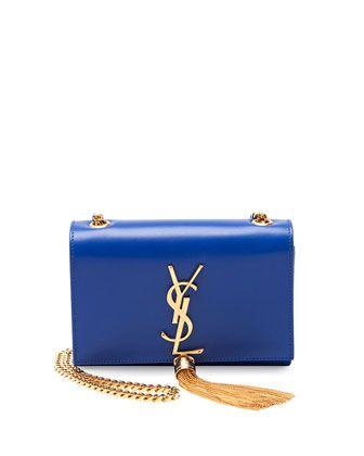 Monogramme Small Crossbody Bag Cobalt Blue By Saint Laurent At Bergdorf Goodman