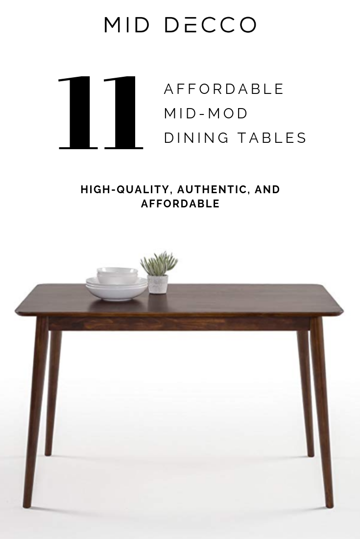 11 Affordable Mid Century Modern Dining Tables With Images
