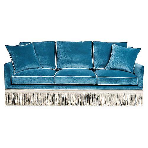 Hudson Sofa Light Blue Velvet Sofas, Light Blue Furniture
