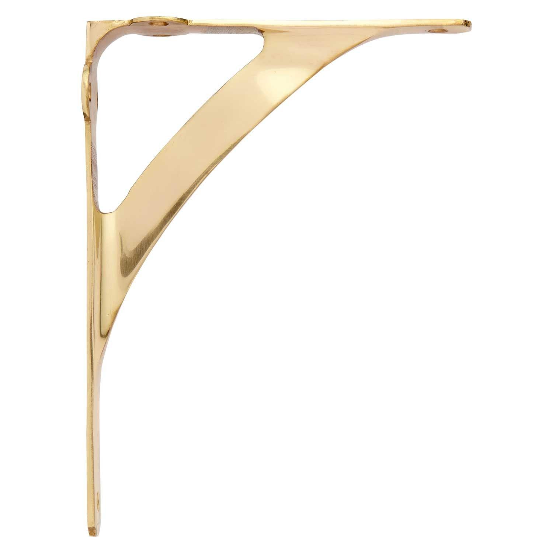 Classic Brass Shelf Bracket | Brass shelf brackets, Shelf brackets ...