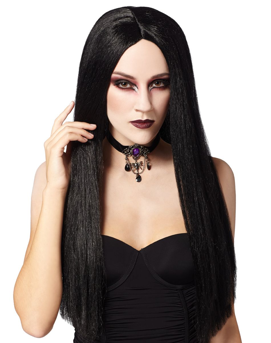 Long Adult Black Wig Spirit Halloween Halloween wigs