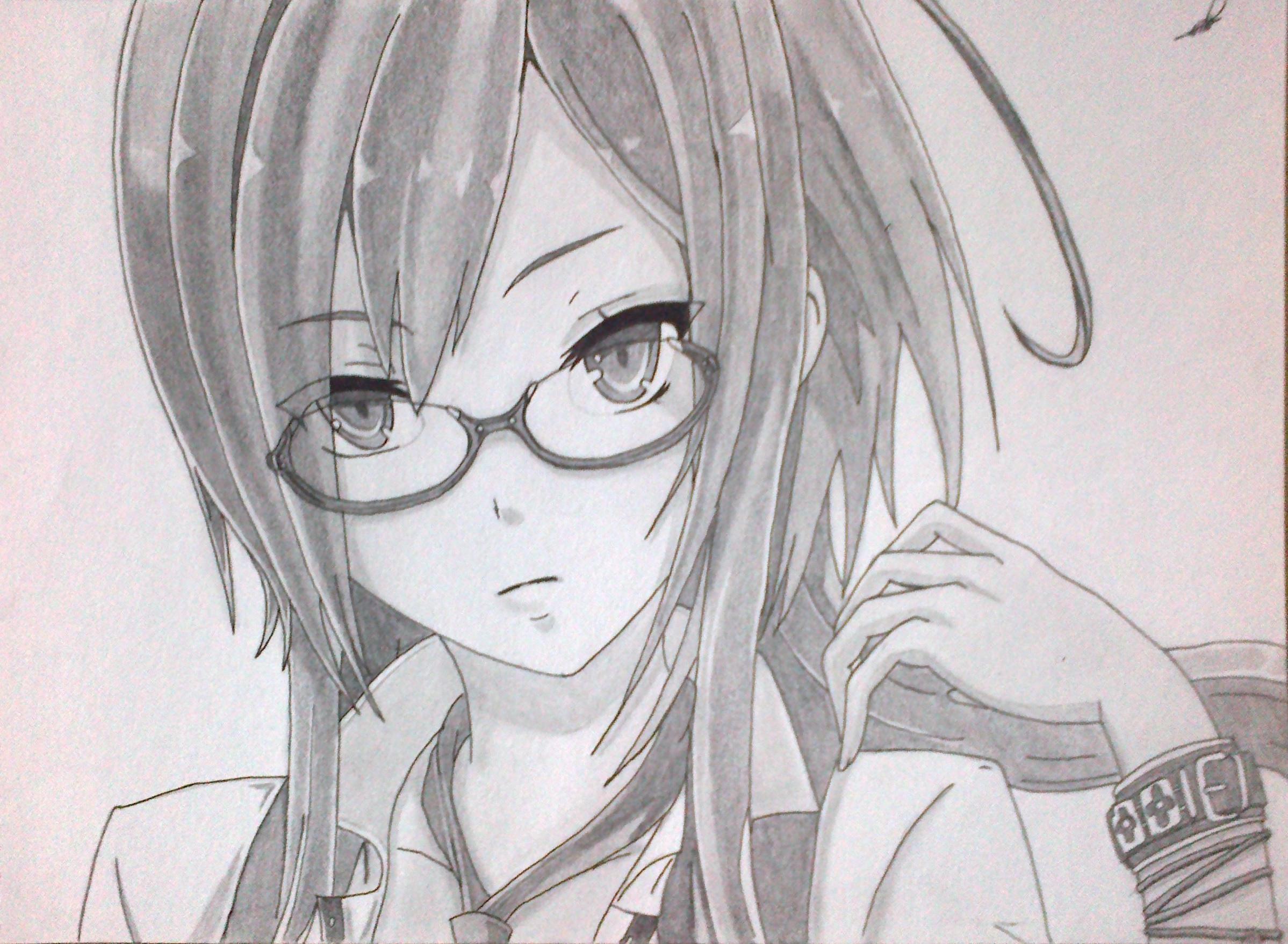 Dibujando Chica Estilo Anime Dibujos, Dibujo a lapiz