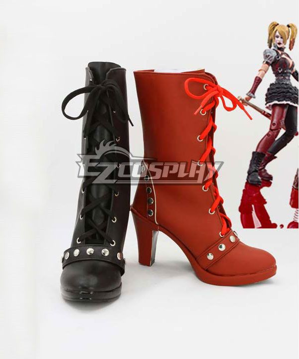 205afd25c139 Batman  Arkham Knight Asylum City Harley Quinn Cosplay Shoes ...