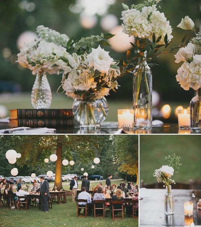 Real Weddings Decorations: Real Wedding: Stephanie And Gabriel's Intimate Backyard