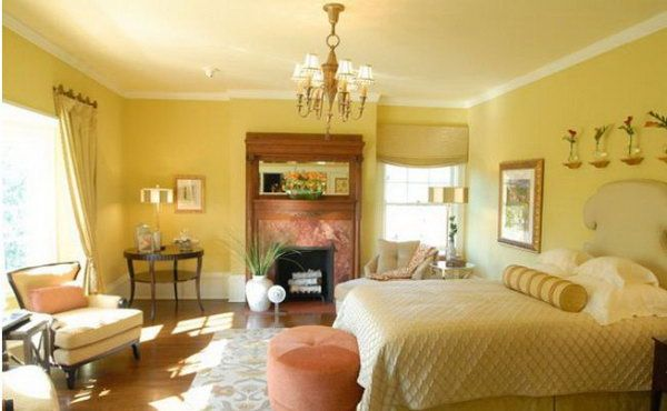 Yellow with touches of peach.] Yellow Master Bedroom Paint Color ...