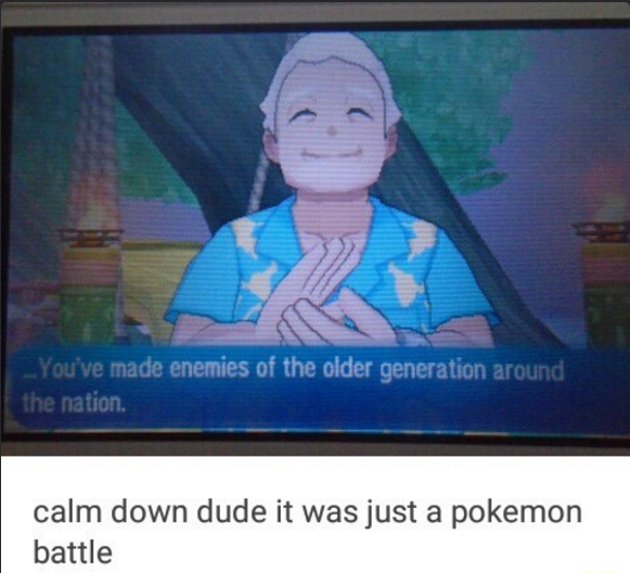 Oh god...... all the old gym leaders are comin for us guys
