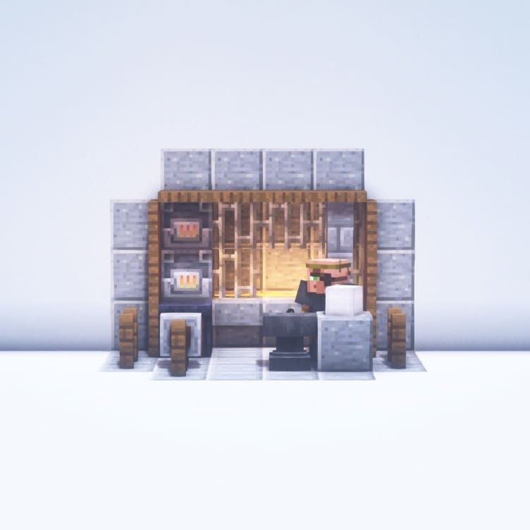 Danielplays On Instagram Here S A Little Blacksmith Forge It S A Very Compact Forge But It Has Al In 2020 Minecraft Designs Minecraft Blueprints Minecraft Houses
