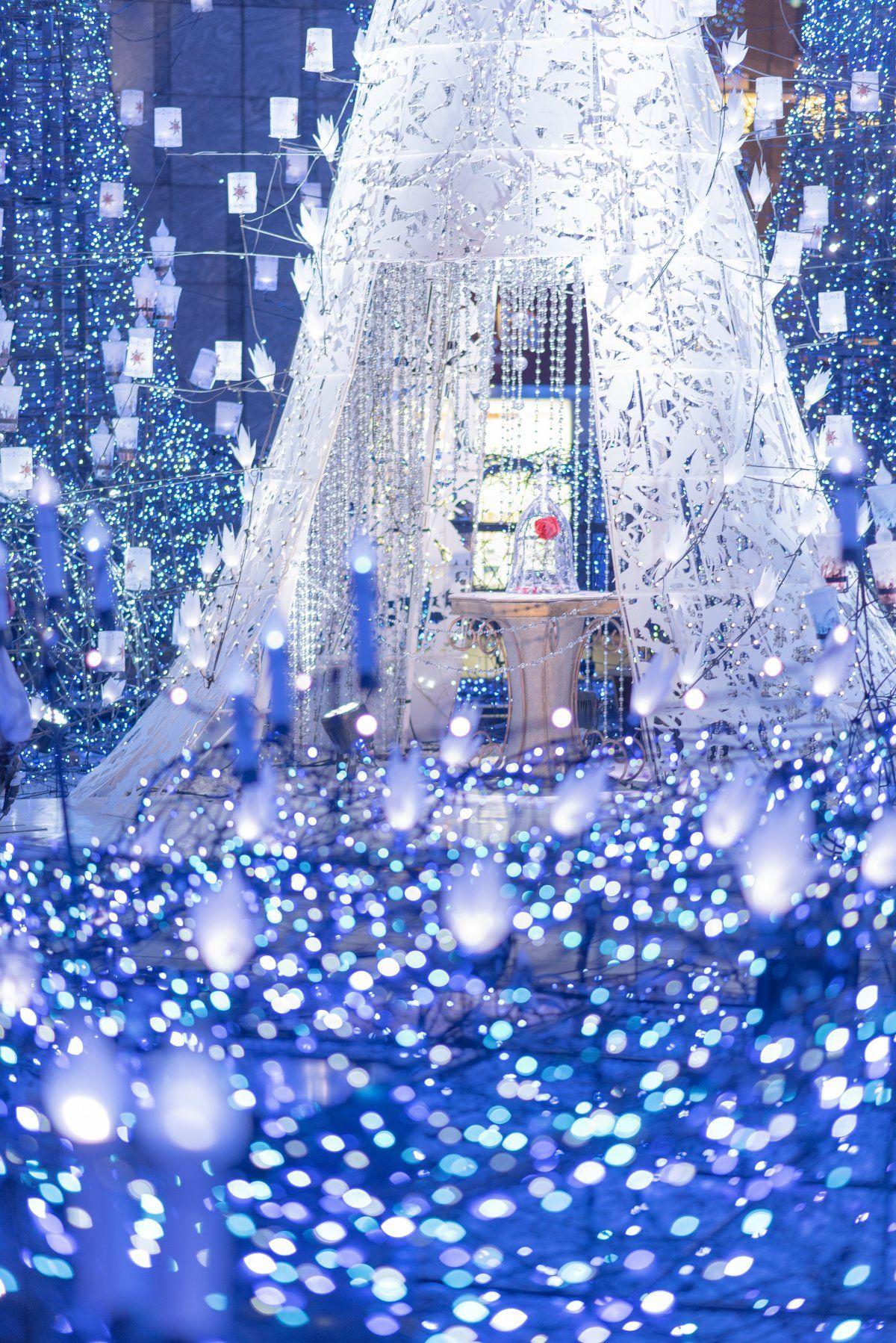 ディズニーの音楽とイルミネーション 冬の壁紙 クリスマスの壁紙