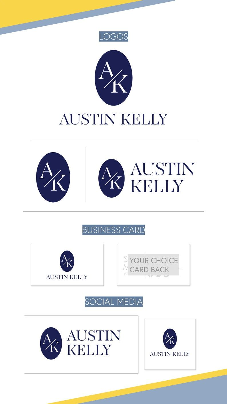 Sophisticated Clean Modern Premade Logo Bakery Logo Oval Etsy Premade Logo Branding Design Business Card Logo