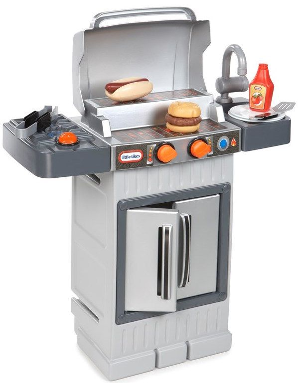 This Toy Bbq For Your Little Sister Who Is Destined To Be The Grill Master Outside Toys For Toddlers Little Tikes Cool Toys For Boys
