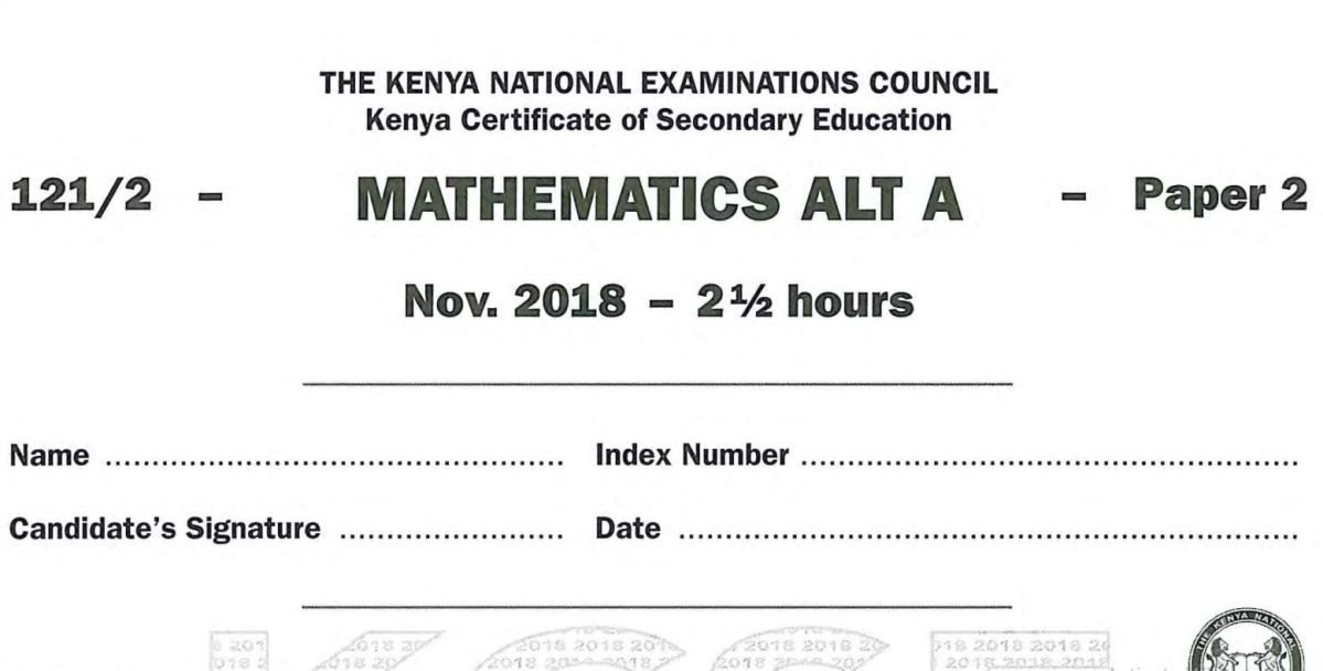 KNEC KCSE 2018 English Paper 1,2, 3 Combined with Answers