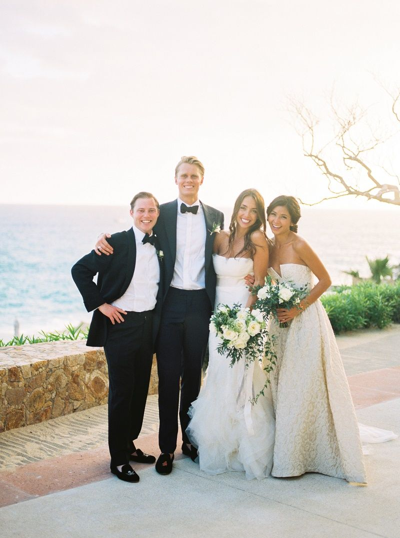 bride-and-groom-maid-of-honor-and-best-man-formal-photo-cabo ...