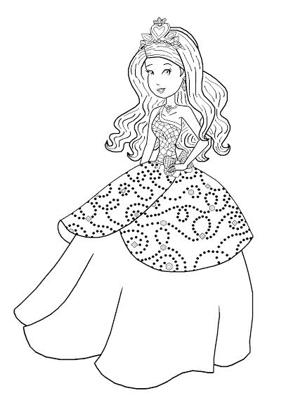 Barbie Princess Charm School The Princess And The Big Bad Wolf Princess Sophia Of Gardania Free Coloring Pages Princess Charm School Coloring Pages