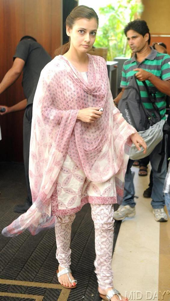Dia Mirza at the prayer meet of Priyanka Chopra's father #Bollywood