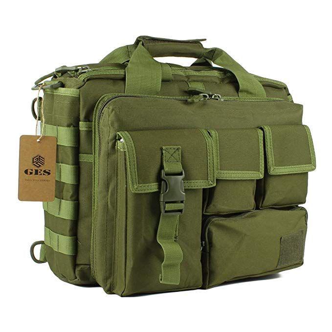 098006fe3ef3 GES Laptop Bag - 15.6 Inch Men s Messenger Bag Multifunction Tactical  Military Briefcase