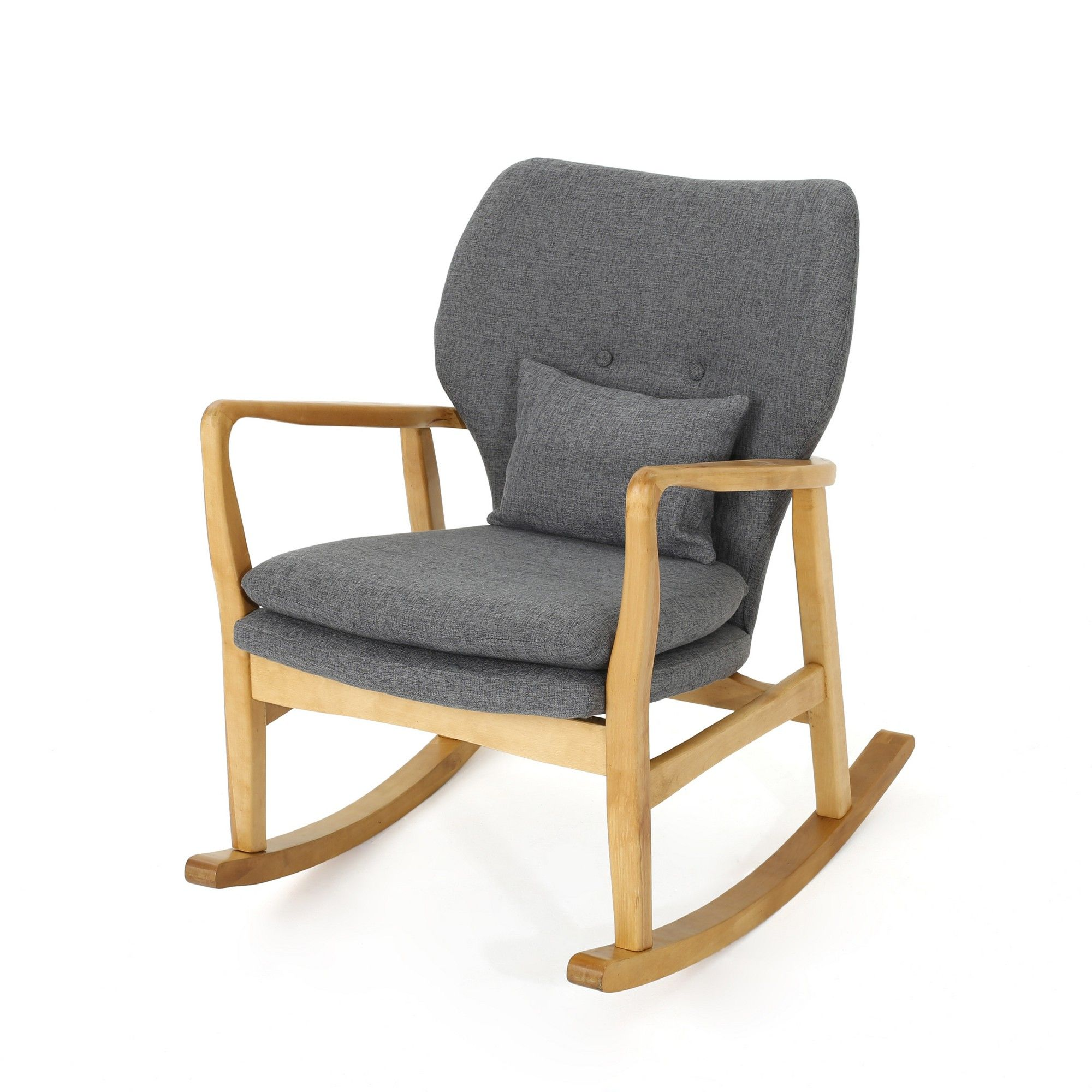 Awe Inspiring Benny Mid Century Modern Rocking Chair Gray Christopher Alphanode Cool Chair Designs And Ideas Alphanodeonline