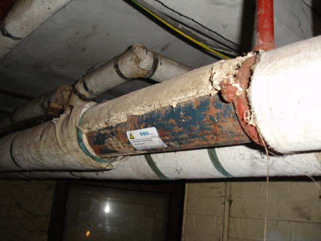 Asbestos Removal Duct : Asbestos pipe insulation identification linepc