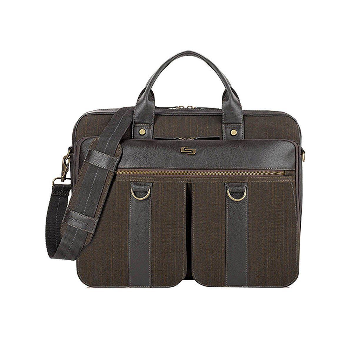 bcfadbd69a16 Solo Brown Bradford Briefcase   Products   Briefcase, Bags, Bradford