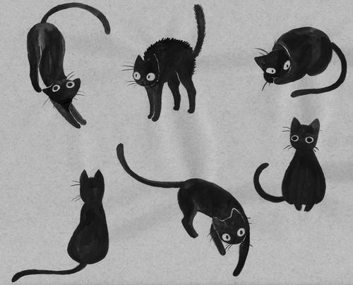 Tumblr Kitty Cat Klub Pinterest Black Cat Tattoos Black Cat