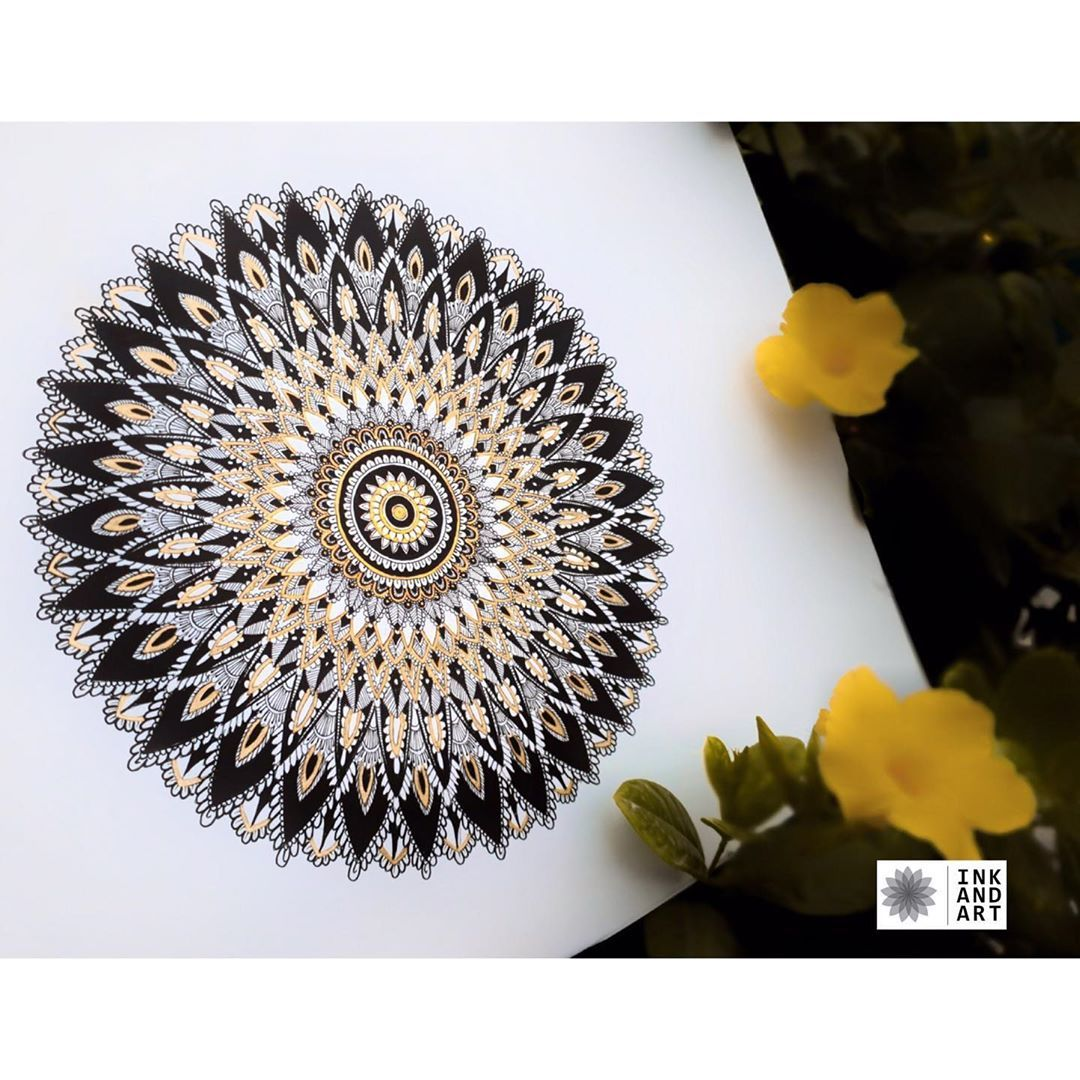 """Ink and art on Instagram: """"DM for orders and queries 📩  #mandala #mandalaart #mandalart #art #artstagram #mandalagram #mandaladesign #design #designing…"""""""