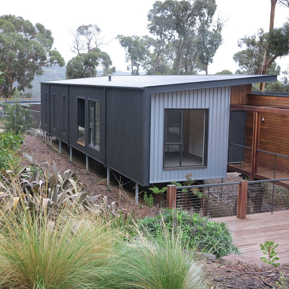 Exterior Design Ideas With Corrugated Metal Cladding Decoration