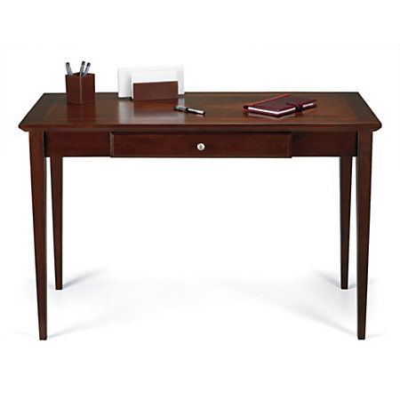 realspace item by pin inlay office light cherry desks writing officemax desk depot
