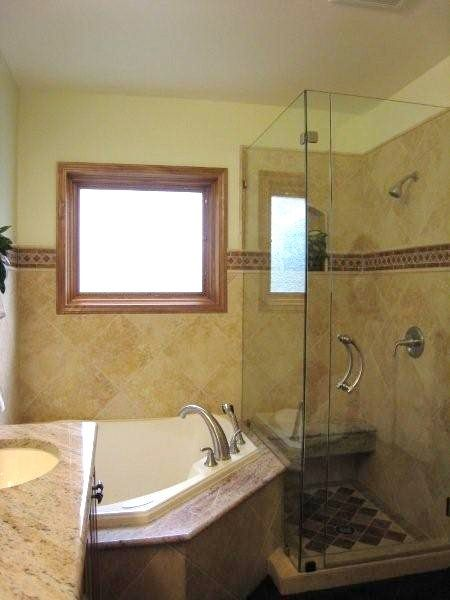 Corner Tub Glass Showermiller Glass Cotally Bathroom Interesting Small Bathroom Corner Tub Review