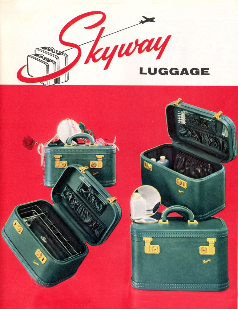Skyway Luggage 1954 | LOST IN THE 50s | Pinterest