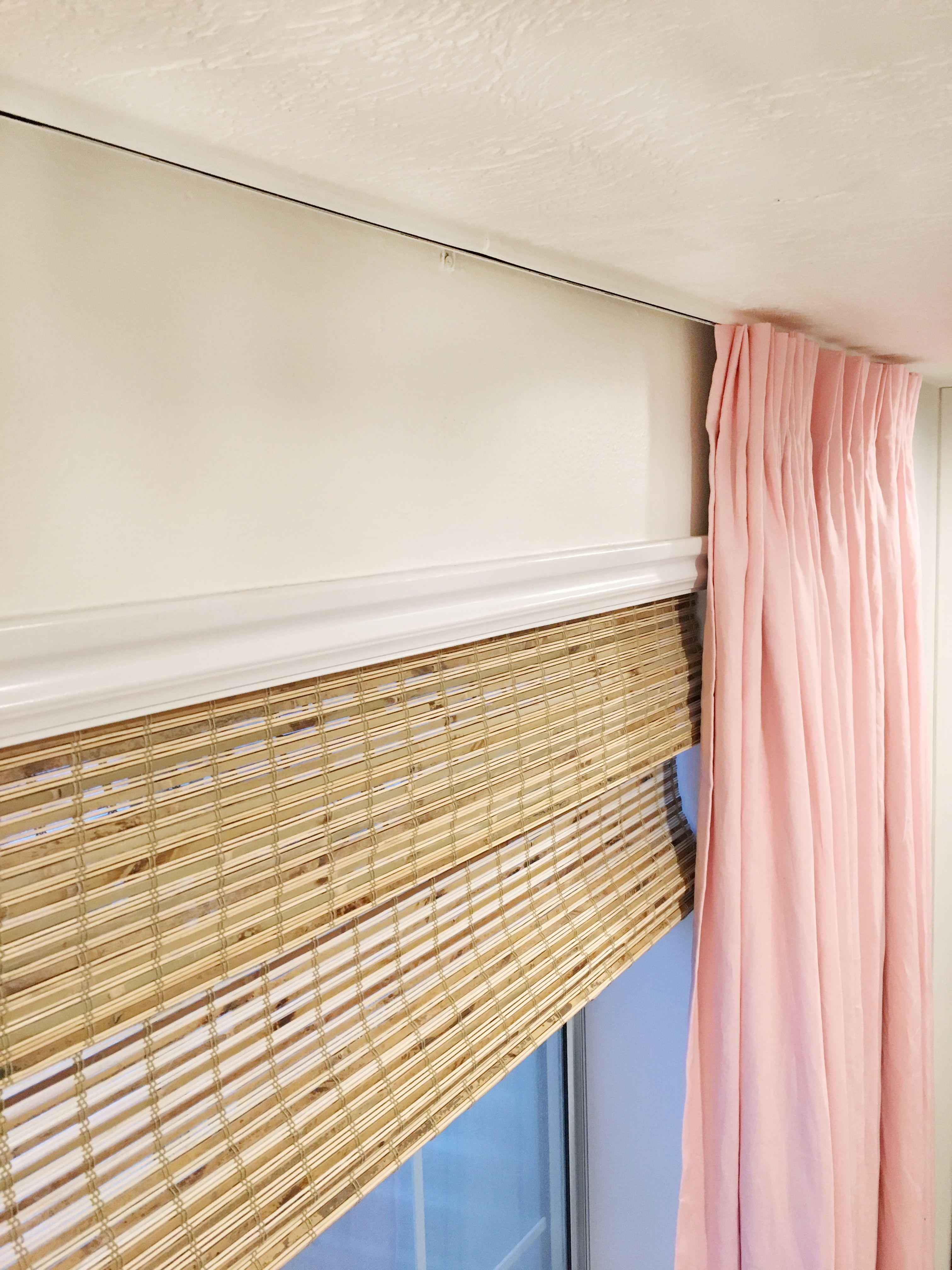 A Ceiling Mount Curtain Rod