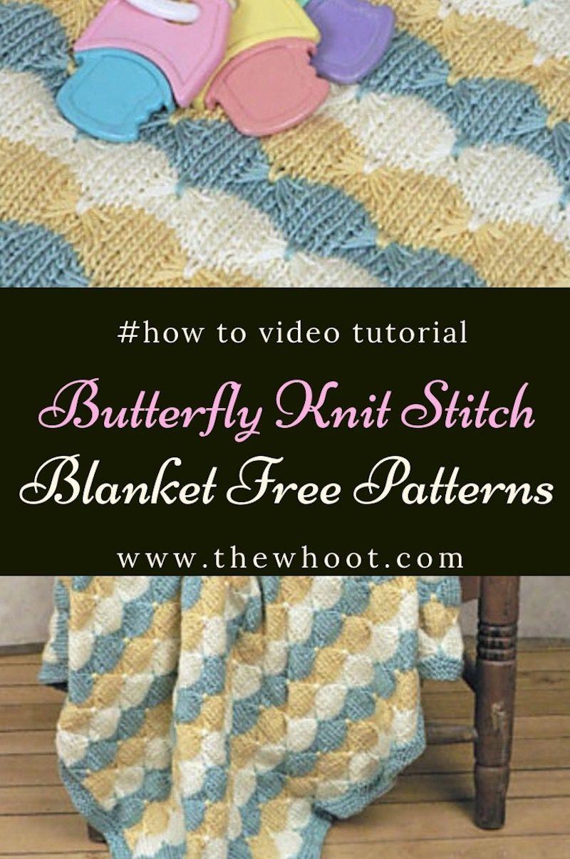 Gorgeous Butterfly Knit Stitch Blanket Free Pattern ...